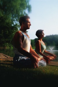 Man and Woman in Lotus Pose